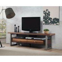 Industrial Walnut TV Console