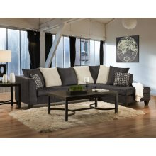 4184 SECTIONAL COMPLETE in Osaka Charcoal (LAF Sofa & RAF Chaise)