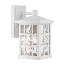 Stonington Outdoor Lantern in White Lustre