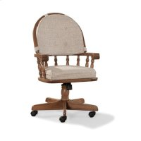 Classic Oak Chestnut Curved Top Game Chair Product Image