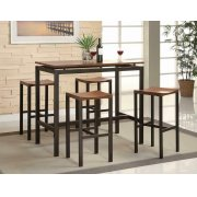 Atlas Birch Veneer and Black Five-piece Dining Set Product Image