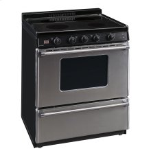 30 in. Freestanding Smooth Top Electric Range in Stainless Steel