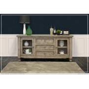 3 Drawer, 2 Door, Buffet Gray Finish Product Image