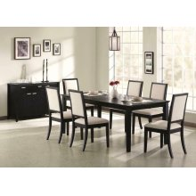 Louise Transitional Five-piece Dining Set