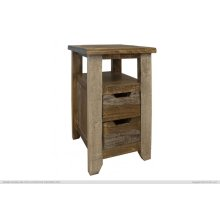 Two Drawer Chairside Table
