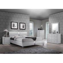 Enzo White Bedroom Set