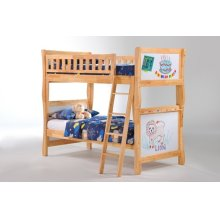 Scribbles Twin Twin Bunk in Natural Finish