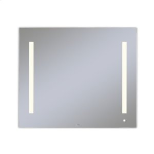 """Aio 35-1/8"""" X 29-7/8"""" X 1-1/2"""" Lighted Mirror With Lum Lighting At 2700 Kelvin Temperature (warm Light), Dimmable, Usb Charging Ports and Om Audio Product Image"""