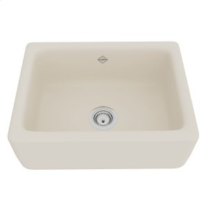 Parchment Shaws Original Lancaster Single Bowl Apron Front Fireclay Kitchen Sink Product Image