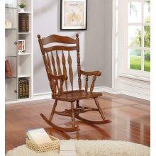 Traditional Medium Brown Rocking Chair