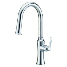 Chrome Draper® Single Handle Pull-Down Kitchen Faucet