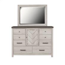 8 Drawer Bureau Dresser in Riverwood Brown