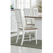 Dining Chair (2/Carton) - Light Oak/Distressed White Finish