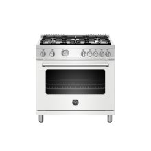 36 inch Dual Fuel Range, 5 Burner, Electric Oven Matt White