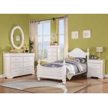 CLASSIQUE WHITE TWIN BED @N