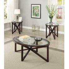 Transitional Three-piece Round Table Set