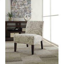 Traditional Off-white and Grey Accent Chair
