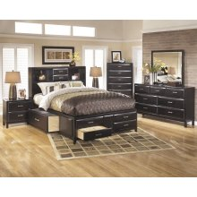 Kira - Almost Black 5 Piece Bedroom Set