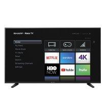 """60"""" Class (59.5"""" diag.) 4K Sharp Roku TV with HDR"""