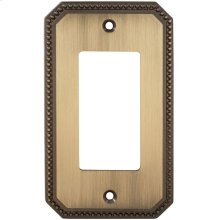 Single Rocker Beaded Switchplate in (SB Shaded Bronze, Lacquered)