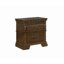 Satterfield Traditional Warm Bourbon Two-drawer Nightstand