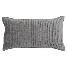 Bari Velvet Gray King Sham Set