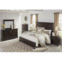 Brynhurst - Dark Brown 3 Piece Bed Set (Cal King)