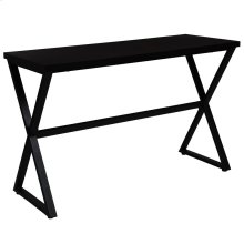 Espresso Wood Finish Console Table with Contemporary Metal Legs