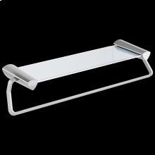 "Chrome 24"" Towel Bar with Glass Shelf"