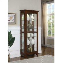 Casual Warm Brown Curio Cabinet