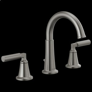 Black Stainless Two Handle Widespread Bathroom Faucet Product Image