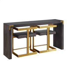 Console Table with 2 Stools