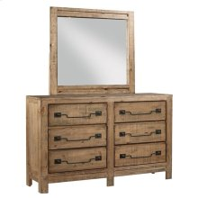 Dresser \u0026 Mirror - Caramel Finish
