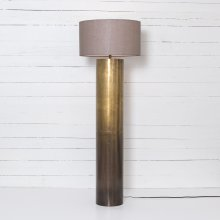 Ombre Antique Brass Finish Cameron Ombre Floor Lamp