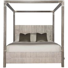 King-Sized Palma Canopy Bed in Rustic Gray