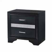 Miranda Transitional Black Nightstand