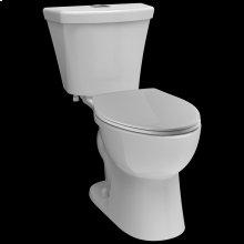 White Elongated Dual-Flush Toilet