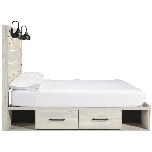 Cambeck - Whitewash 5 Piece Bed Set (Queen)