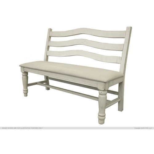 Bench for Dining, Ivory Finish