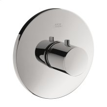 Chrome Thermostat HighFlow for concealed installation round