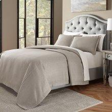 3pc King Bed Throw Set Gray