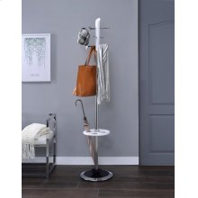 WHITE COAT RACK