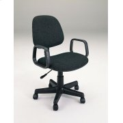 BLACK OFFICE CHAIR W/ARM @N Product Image