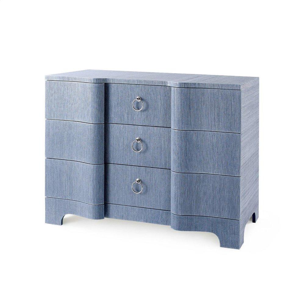 Bardot Large 3 -Drawer, Navy Blue