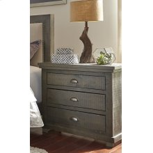 Nightstand - Distressed Dark Gray Finish