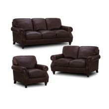 6978 WATERFORD: Leather Loveseat in Stallion Burgundy (MFG# 6978-20-MG0E)