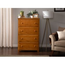 Atlantic 4 Drawer 48 inch Chest in Caramel Latte
