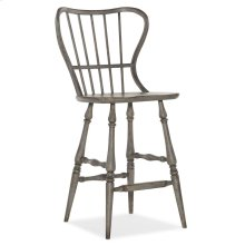 Dining Room Ciao Bella Spindle Back Bar Stool-Speckled Gray