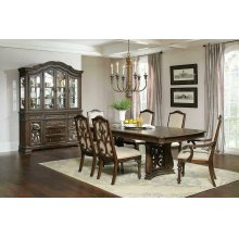 Ilana Traditional Antique Java Formal Dining Table