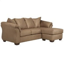 Signature Design by Ashley Darcy Sofa Chaise in Mocha Microfiber